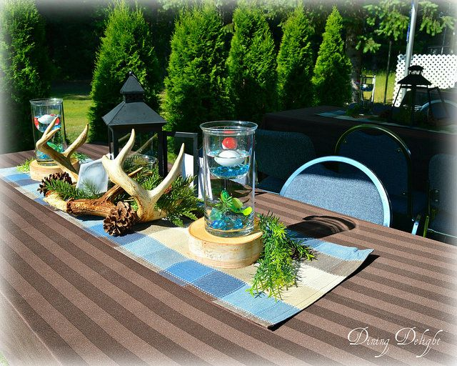 Dining Delight Hunting Amp Fishing Themed Centerpiece