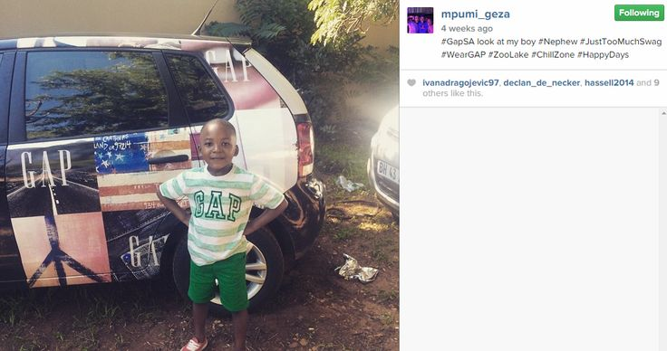 Mpumi's nephew rocking some #GapSA swag!