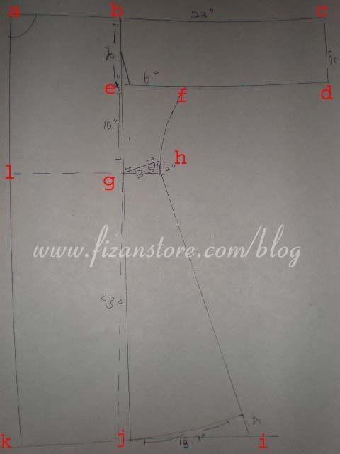 JOM JAHIT: Pola baju kurung riau /pahang