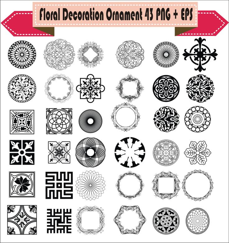 Decoration Victorian Ornamental Floral Corner Border Retro Vector Clipart PNG EPS Digital Files Scrapbook Supplies Clip Art Instant Download by VectorArtShop on Etsy