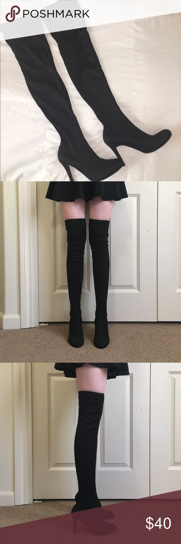 Colin Stuart Thigh High Boots Colin Stuart Thigh High Boots! Only been worn a few times. The heels are 4 inches and the boots are mid thigh on me. Price is negotiable. Please let me know if you have any questions. Colin Stuart Shoes Over the Knee Boots