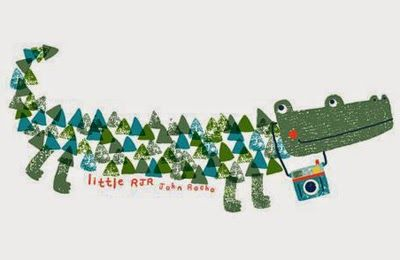 The alligator's back - OMG - too cute.  Aless Baylis of This is Gold Studio via print & pattern