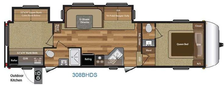 New Keystone RV Hideout 308BHDS Fifth Wheel for Sale | Review Rate Compare - RVingPlanet
