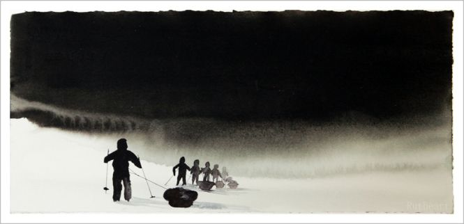 Walk in silence - R.T.Brokstad #watercolor #art