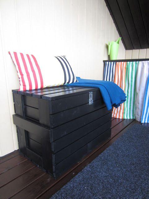 Tee-se-itse-naisen sisustusblogi: DIY Wooden Storage Bench for the Balcony.