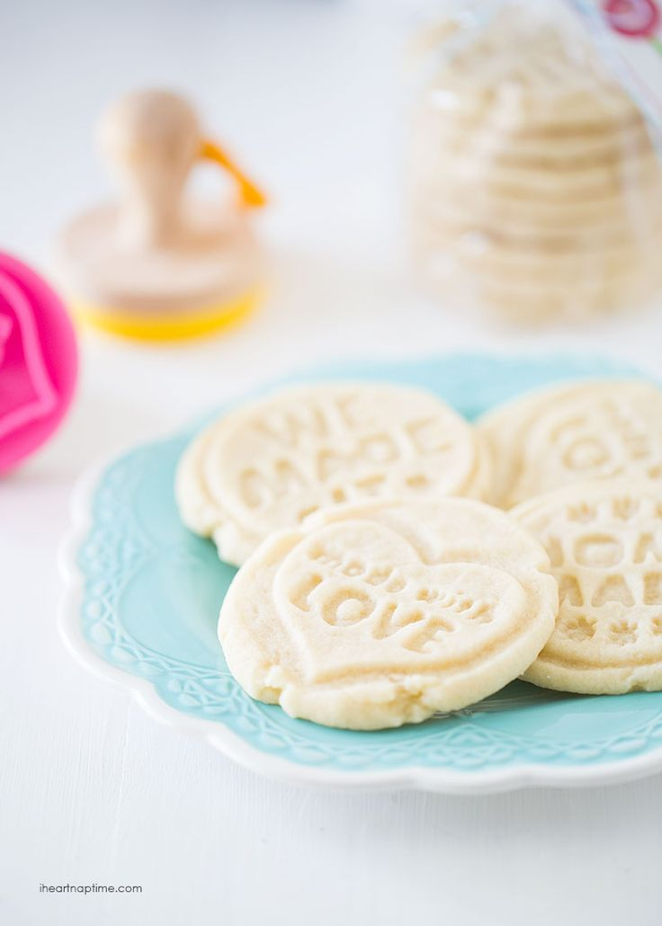 Stamped Sugar Cookies - These cookies are so easy to make with only 4 ingredients, melt in your mouth, and turn out beautiful every time.