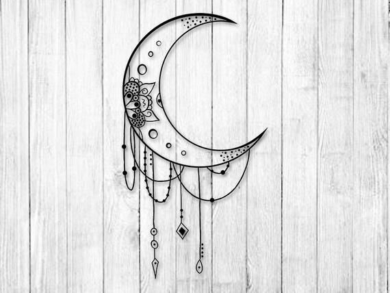 Mandala Moon Svg Mandala Svg Moon Svg Moon Clipart Svg Etsy Mandala Svg Clip Art Svg