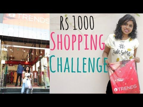 1000 Rs Shopping Challenge - Reliance Trends Shopping Haul in today's video. Rs 1000 Reliance Store Shopping Challenge is all about the shopping at Reliance Trends Store in a Mall for just Rs 1000. Shopping challenges are quite fun also are shopping hauls and I hope you enjoy this Trends haul video.