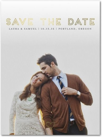 Clear Forever - Signature Foil Save the Dates - Tallu-lah - Flint - Gray : Front