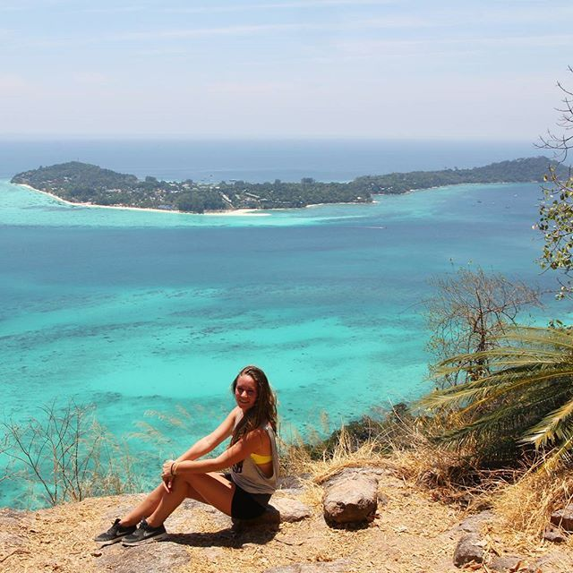 Thailand // Koh Adang // When visiting Koh Lipe, make sure to take a taxiboat to Koh Adang, climb to the top of Chado Cliff and watch Koh Lipe from above. What a view!