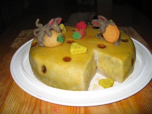 torta formaggio e topolini