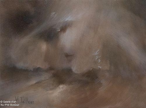 Madeleine Tailleur, 'Bonheur tranquille', 12'' x 16''   Galerie d'art - Au P'tit Bonheur - Art Gallery