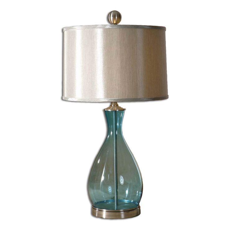 Uttermost 27862 1 Meena Blue Glass Table Lamp   Lighting Universe