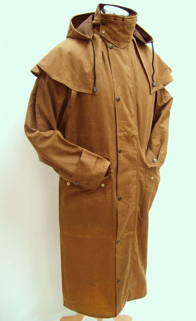 Hunter Outdoor Classic Outback Full Length Mens Wax Coat - Tan