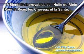 Quand j'étais enfant, ma grand-mère me parlait souvent de l'huile de ricin. Pour elle, l'huile de ricin était LE remède par excellence, un remède pour soulager tout type d'affections et problèmes de santé.  Découvrez l'astuce ici : http://www.comment-economiser.fr/17-bienfaits-incroyables-huile-de-ricin.html?utm_content=bufferef103&utm_medium=social&utm_source=pinterest.com&utm_campaign=buffer