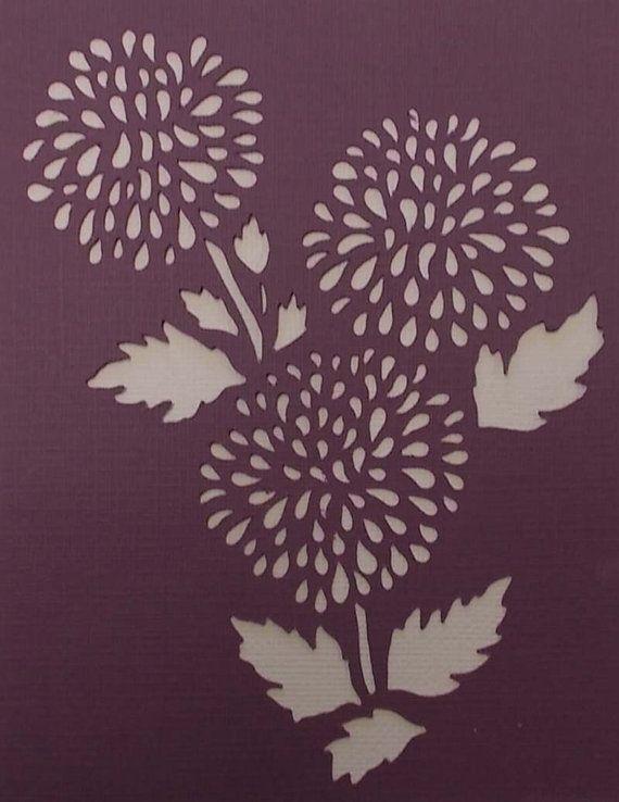Pom Pom Flower Stencil by kraftkutz on Etsy