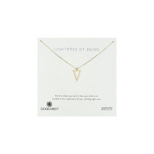 """Dogeared Lightness of Being Air Triangle Chain Necklace, 18"""" - $0"""