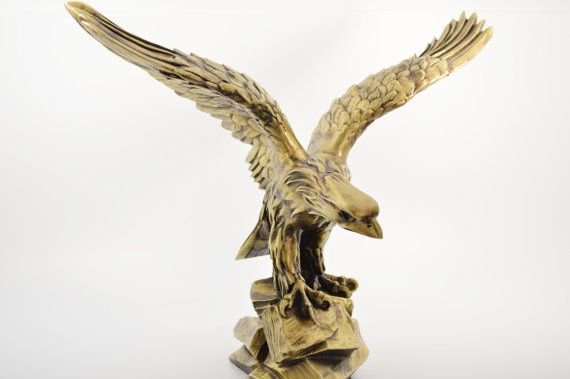 Eagle statue/ Polyester/ Bronze plated by CraftsAndMetal on Etsy