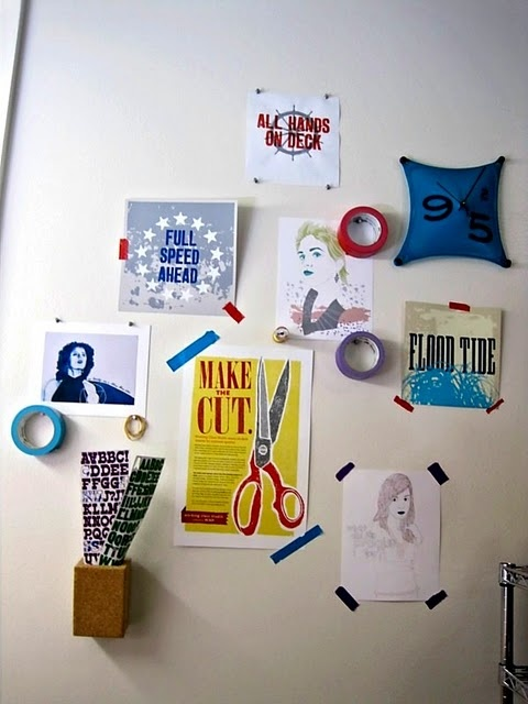 Using colorful tape to hang things on your dorm room walls - Things to put on a wall ...