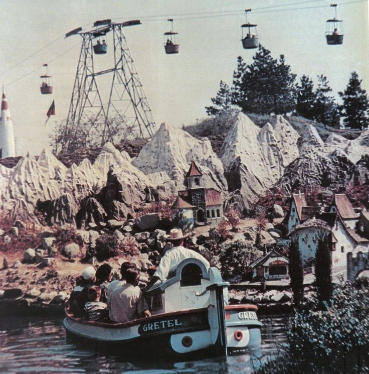 Vintage Disneyland pre-Matterhorn view from the Storybook Land canal boats!