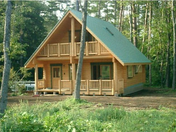 Pics of square log homes log cabin kits cowboy log for Chalet cabin kits