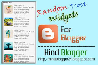 Beautiful Random Post #widgets for #Blogger.