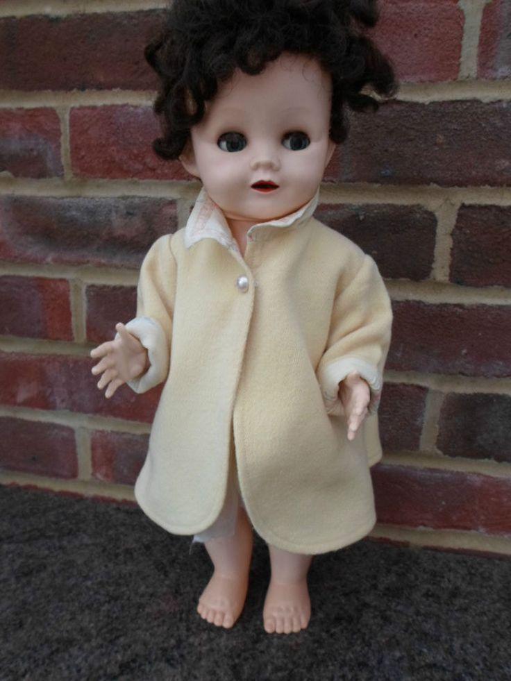 Vintage 1950s Pedigree Doll Hard Plastic Dolls Vintage