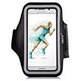 iXCC Trek Series Easy Fitting Sport Gym Running Armband with Dual Arm-Size Slots for Samsung Galaxy S6, MP3 Player - Black