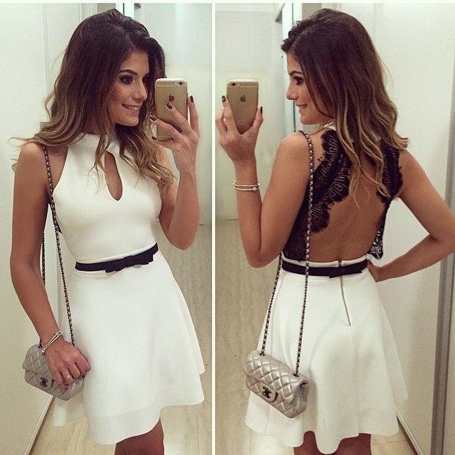 Sexta branca!! Dress by @finnastore ❤️ | #lookdanoite #lookofthenight #ootn #selfie #blogtrendalert