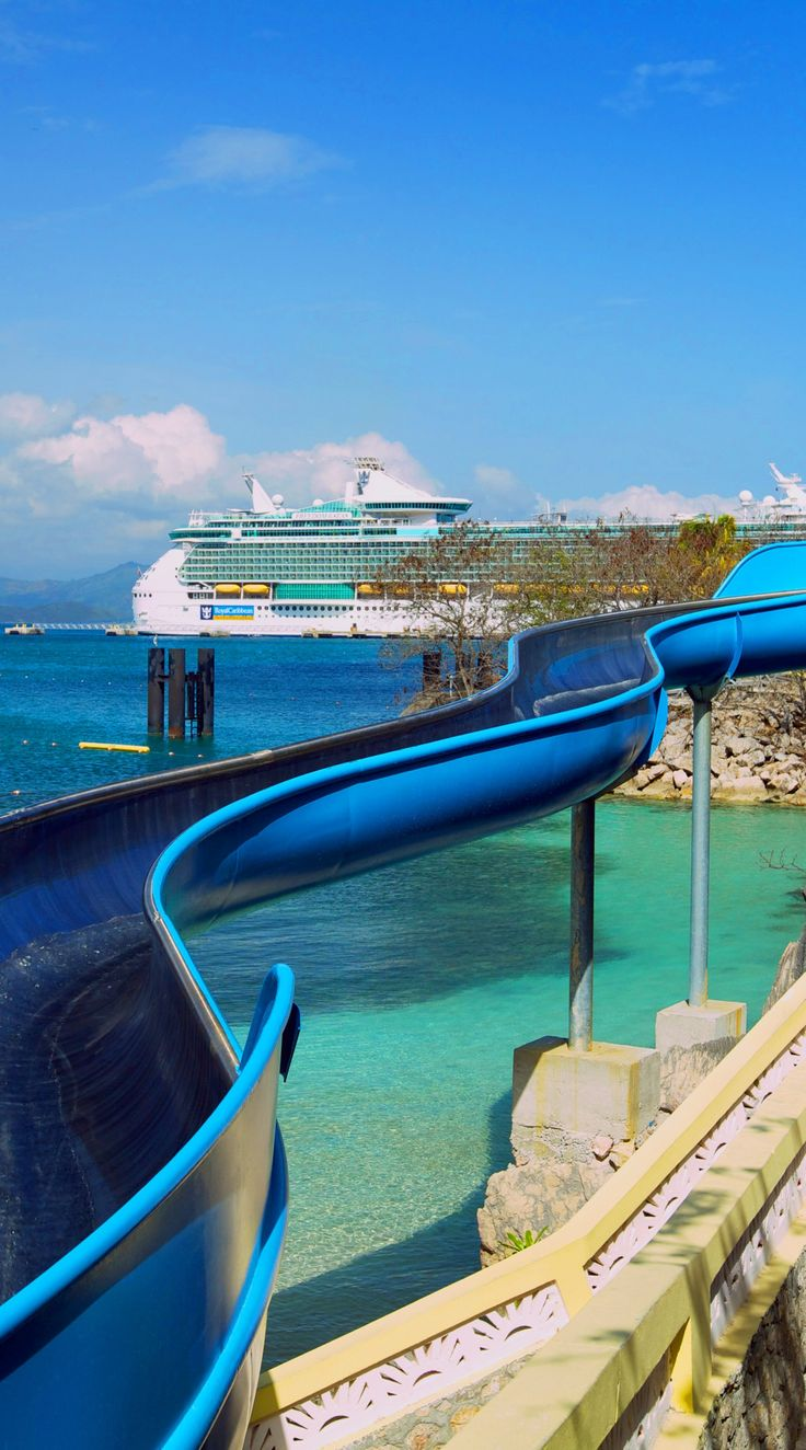 Labadee, Haiti | Zoom down the exhilarating 300-foot saltwater-infused Dragon's Splash Waterslide, and emerge into an 18-foot splash zone just in time to take another ride.