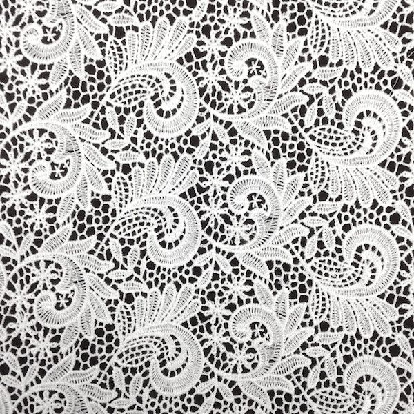 White Paisley Guipure French Venice Lace