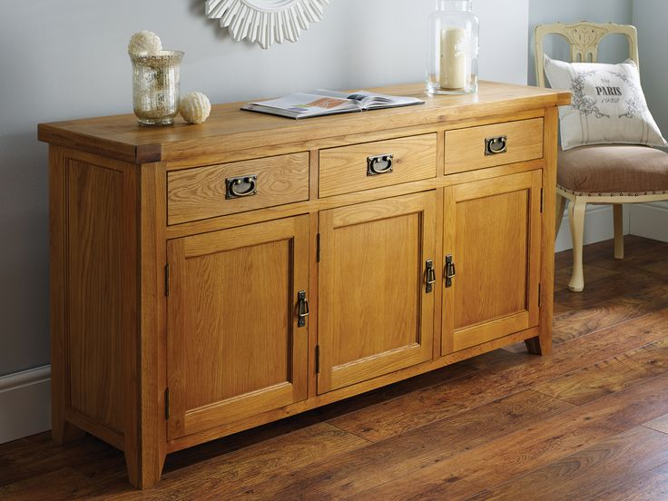 Farmhouse large oak sideboard made from sustainable American oak from Top Furniture.