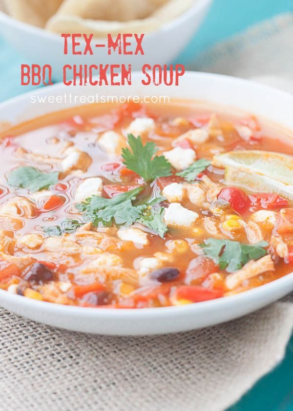Tex-Mex BBQ Chicken Soup
