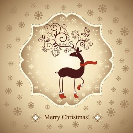 beautiful christmas greeting card 02 vector
