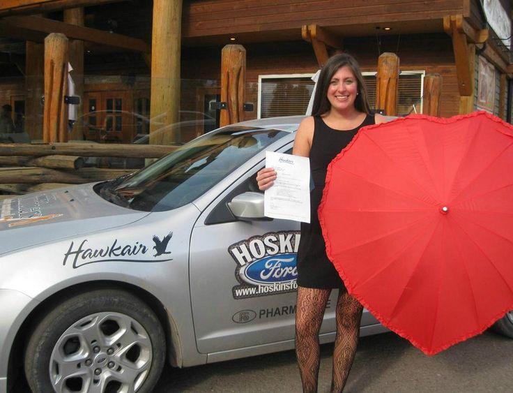 Love Smithers BC Contest winner of Hawkair flights