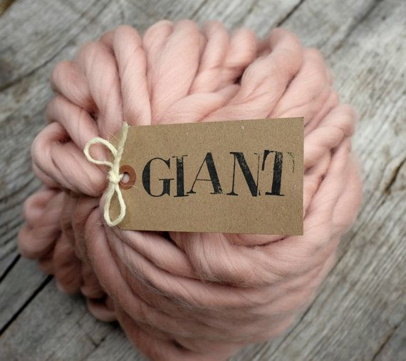 "MERINO - Handspun Yarn - 10,5 oz / 300gr -Giant Yarn - Arm knitting yarn- Blanket Yarn- Super Chunky Yarn ""ALBA"""