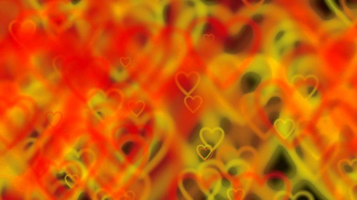 Hearts romantic love - HD animated background #18