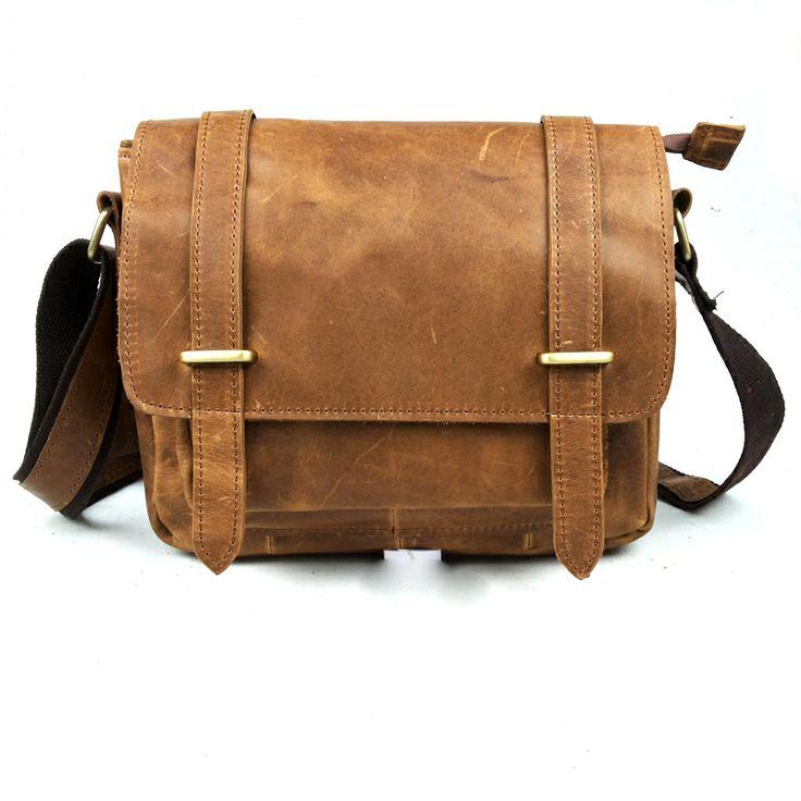 Men messenger bag New York leather messenger bag restoring ancient ways Leisure fashion one shoulder inclined shoulder bag  $65.67