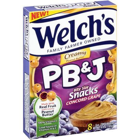 Welch's Creamy PB&J Grape Bite Size Snacks, 0.8 oz, 8 count