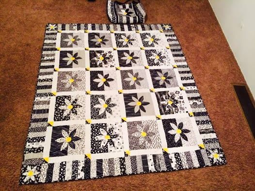Shadowed Daisy Quilt Pattern Quilting Pinterest