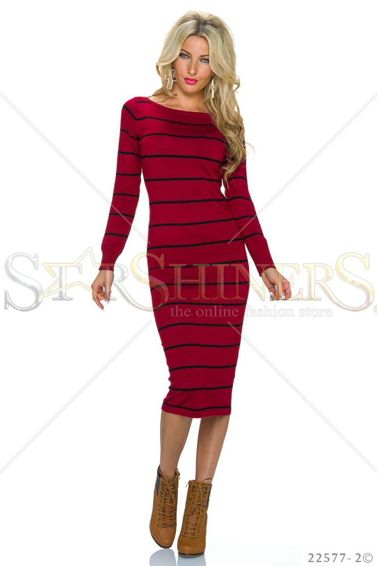 Classic Lines Red Dress