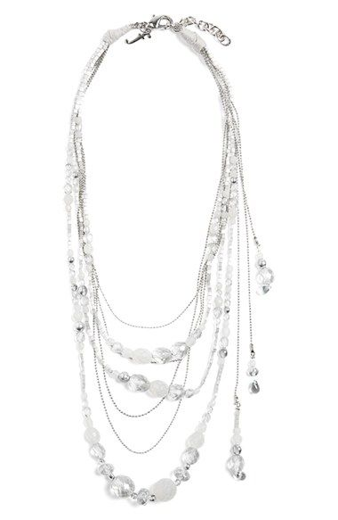 Fabiana Filippi Glass Bead Multistrand Necklace