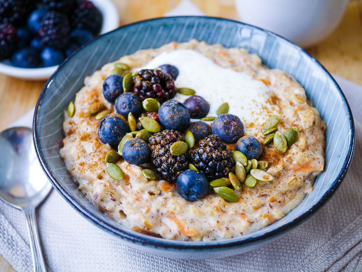 Healthy Carrot Cake Oat Porridge by Nourish Every Day - Sweeter Life Club