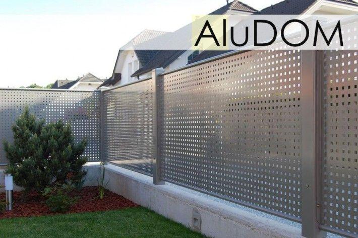 ogrodzenie z aluminiowej blachy perforowanej