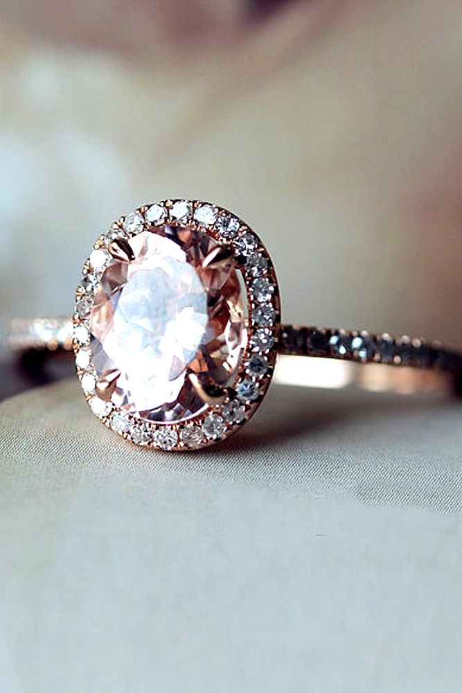 morganite oval cut engagement rings 2