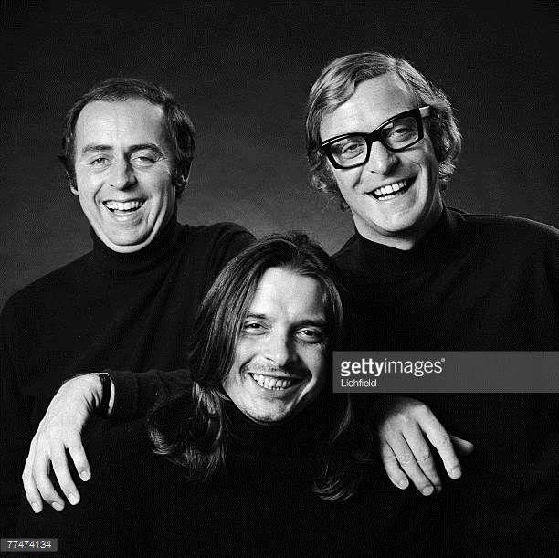 Doug Hayward photographer David Bailey and film actor Michael Caine on 14th September 1971