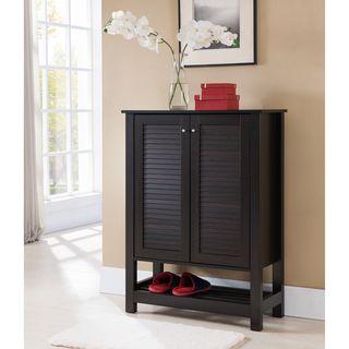 furniture of america pilton cappuccino slatted 5shelf shoe cabinet