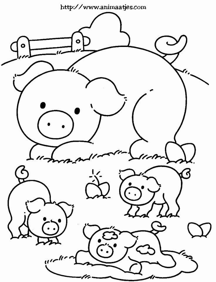 Farm Animals Coloring Page Unique 23 Best Boerderij Images On Pinterest Farm Animals Co Farm Animal Coloring Pages Animal Coloring Pages Farm Coloring Pages
