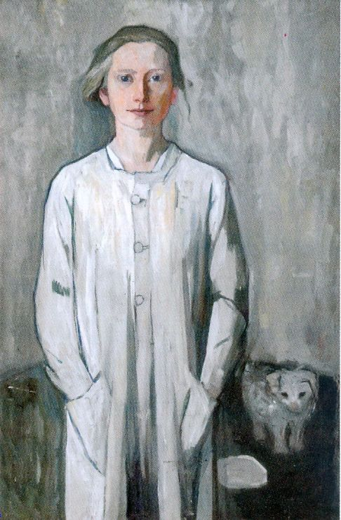 Käte Lassen (1880-1956) - Self Portrait. Artist born in Flensburg, Germany (northern most German town, on the border with Denmark with a Danish minority population).