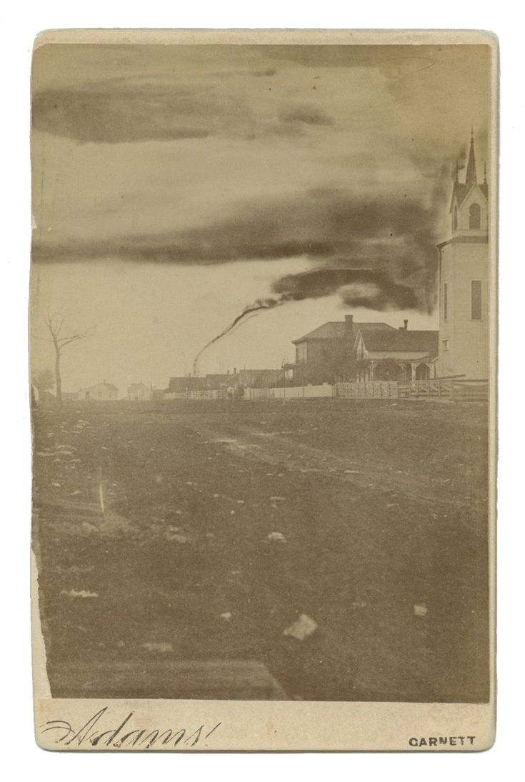 Tornadoes have threatened lives on the Great Plains for centuries, but until the late 1800s most Americans had never actually seen one. That changed on April 26, 1884, when unique circumstances allowed a farmer in Anderson County, Kansas, to capture the first known photograph of a tornado. The tornado's slow progress allowed local fruit farmer and amateur photographer A.A. Adams time to assemble his cumbersome box camera and capture this singular image.